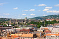 Budapest Cityscape and Buda Castle Royalty Free Stock Photo