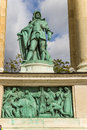 Budapest element of the millenary monument central site hero s square as well as a landmark is millennium memorial also known as Stock Photo