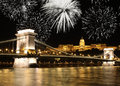 Budapest fireworks Royalty Free Stock Photo