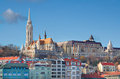 Budapest, Fisherman's Bastion and Matthias Church Stock Photo