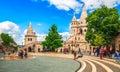 Budapest Fishermans Bastion square famous touristic landmark Royalty Free Stock Photo