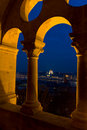 Budapest from Fishermen's Bastion Royalty Free Stock Photos