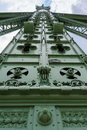 Budapest Freedom Bridge pillar detail Royalty Free Stock Photo