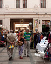 Budapest gouba art market on september in hungary weekly sunday held at the beautifully restored gozsdu courtyard once the Royalty Free Stock Image