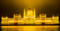 Budapest hungarian parliament building night view Stock Images