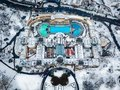 Budapest, Hungary - Aerial view of the famous Szechenyi Thermal bath from above