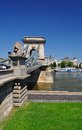 Budapest hungary bridge the across the danube Stock Images