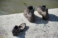Budapest hungary europe de septiembre el hierro calza el monumento a Imágenes de archivo libres de regalías