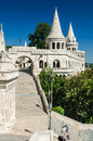 Budapest hungary fishermen bastion architecture detail with terrace and conic tower of in built in xixth century Stock Photography