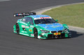 Budapest hungary march new dtm bmw brand first laps with professional driver augusto farfus before official test Royalty Free Stock Image