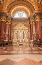 BUDAPEST, HUNGARY - OCTOBER 30, 2015: St. Stephen's Basilica in Budapest. Interior Details Royalty Free Stock Photo