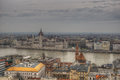 Budapest, Hungary  - a view on the center of city Royalty Free Stock Photo