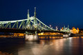 Budapest liberty bridge Royalty Free Stock Photo