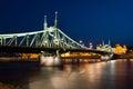 Budapest liberty bridge Royalty Free Stock Photo