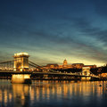 Budapest at night Royalty Free Stock Image