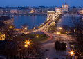 Budapest at night with Chain Bridge Stock Image