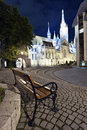 Budapest at night church fisherman s bastion in hungary Royalty Free Stock Image