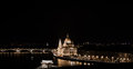 Budapest by night, Hungarian Parliament Royalty Free Stock Photo