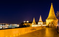 Budapest night panorama from fisherman s bastion towers Stock Images