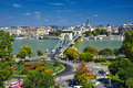 Budapest Old Chain Bridge Royalty Free Stock Photo