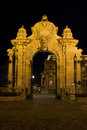Budapest, ornate arched gateway Stock Photos