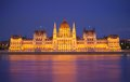 Budapest Parliament, night scene Royalty Free Stock Photos