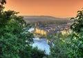 Budapest scene at dusk and danube Stock Image
