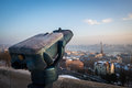 Budapest snow telescope Royalty Free Stock Photo