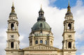 Budapest st stephen s basilica facede and dome detail Stock Image