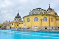 Budapest szechenyi bath spa hungary horizontal photo Royalty Free Stock Photo