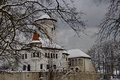 Budatin castle in winter time, Slovakia