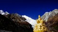 The budda on the mountain a snowberg of gong ga in sichuan Royalty Free Stock Image