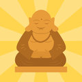 Budda statue from thailand harmony budha culture spiritual meditation sculpture vector illustration