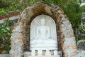 Budda white with nature frame Stock Images