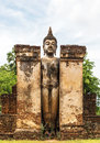 Buddha architecture of history at sukothai thailand Stock Photo