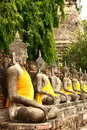 Buddha in Ayutthaya temple Stock Photography