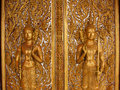 Buddha carving in the temple of thailand Royalty Free Stock Photo
