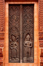 Buddha carving in the temple of thailand Stock Photo