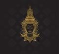 buddha characters of Ramayana,Thai Art Background pattern
