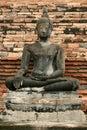 Buddha cracked sukhothaien thailand Royaltyfri Bild