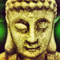 Buddha face close up of a figure Stock Photos