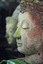 Buddha face side of statue chiangmai thailand Stock Photos
