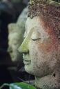 Buddha face side of statue chiangmai thailand Stock Photos