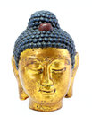 Buddha gold head on a white background Royalty Free Stock Images