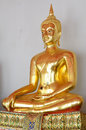 The Buddha Gold Statue Royalty Free Stock Photos