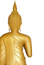 Buddha golden statue on white Stock Image