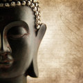 Buddha grunge words Stock Image