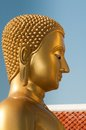 Buddha head in profile Stock Photography