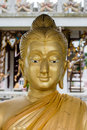 The Buddha head in thai temple Royalty Free Stock Photo