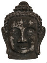 Buddha head in white background Royalty Free Stock Image